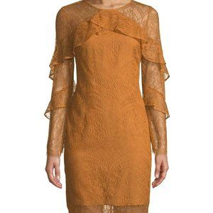 Nanette Lepore NEW Size 6 Gold Lace Cocktail Dress